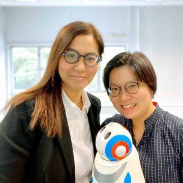 Dr. Sarah Luk (left), Professor Catherine So (right)